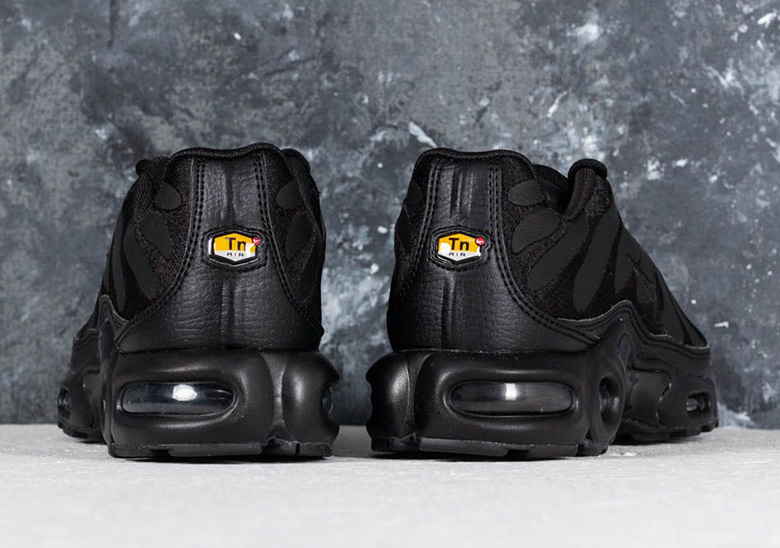 Nike Air Max Plus Leather Uppers Black + White  