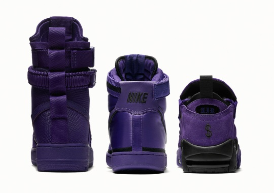 "Nike To Release A Set Of Retro Basketball Models In ""Court Purple"""