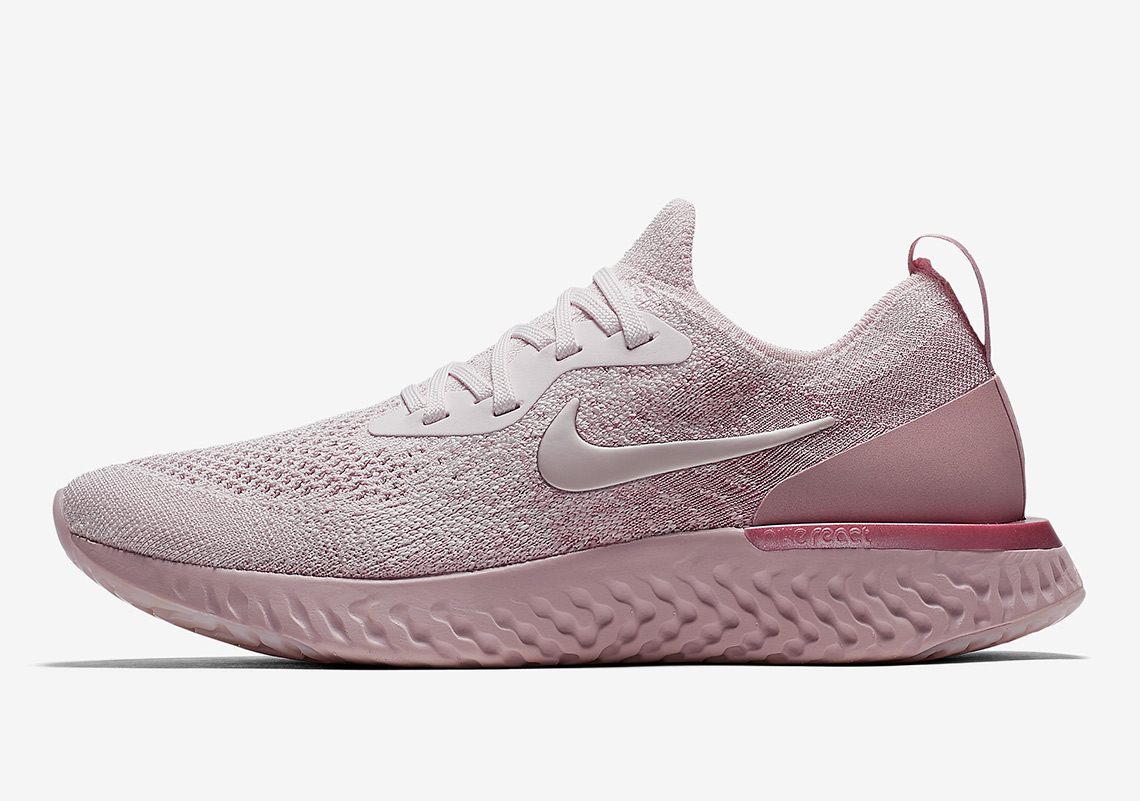 """Nike Epic React Flyknit """"Pearl Pink"""" Releases On April 19th fda851fb3"""