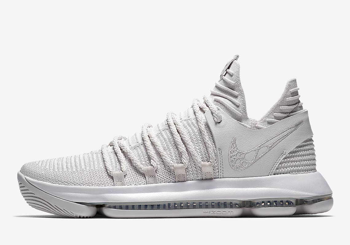 "quality design 43c1a 7815e Nike KD 10 ""Platinum"" Set To Release This Month"