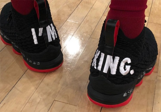"LeBron James Trolls The Knicks With ""I'm King"" Nike LeBron 15 PE"