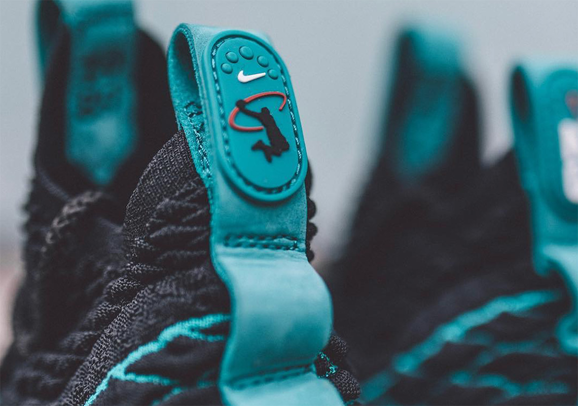 hot sale online 690a2 7752e Nike LeBron 15 200. Color BlackRio Teal-White Style Code AR5126-001