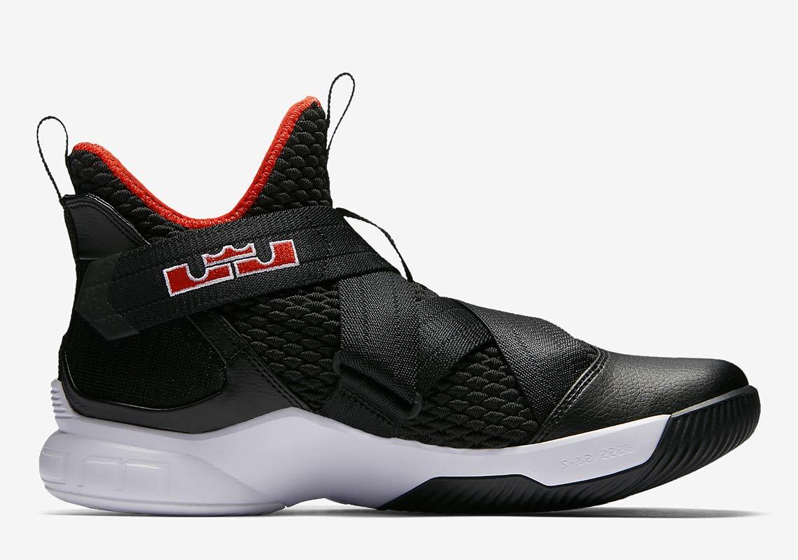 best website 5c918 d0d5d Nike LeBron Soldier 12 Black/Red Release Info AO2609-001 ...