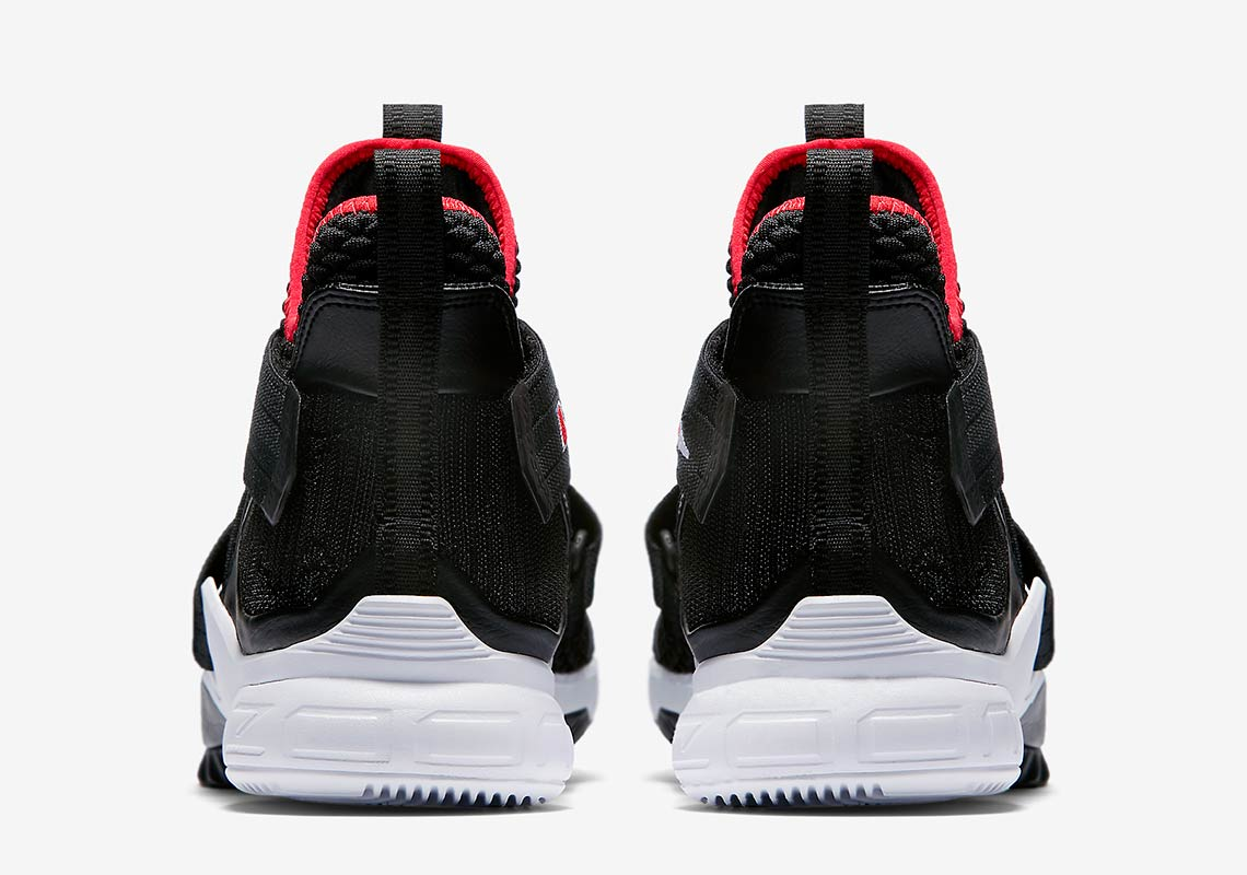 outlet store sale 08001 e6c12 Nike LeBron Soldier 12 Black Red Release Info AO2609-001 ...