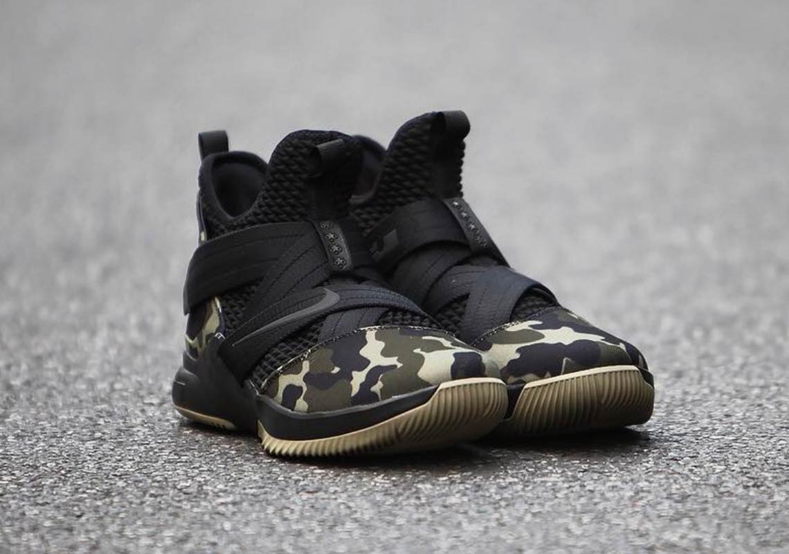 hot sale online 3eec9 de002 Nike LeBron Soldier 12 Military Camo First Look ...