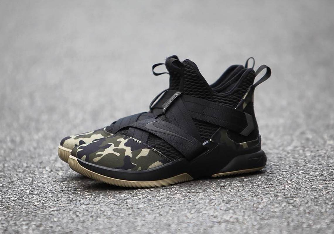 85a77693f78a1 Nike LeBron Soldier 12 Military Camo First Look