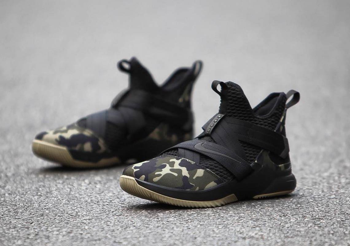 "a314d48d131 Nike LeBron Soldier 12 ""Strive For Greatness"" Goes Military Camo. April 11  ..."
