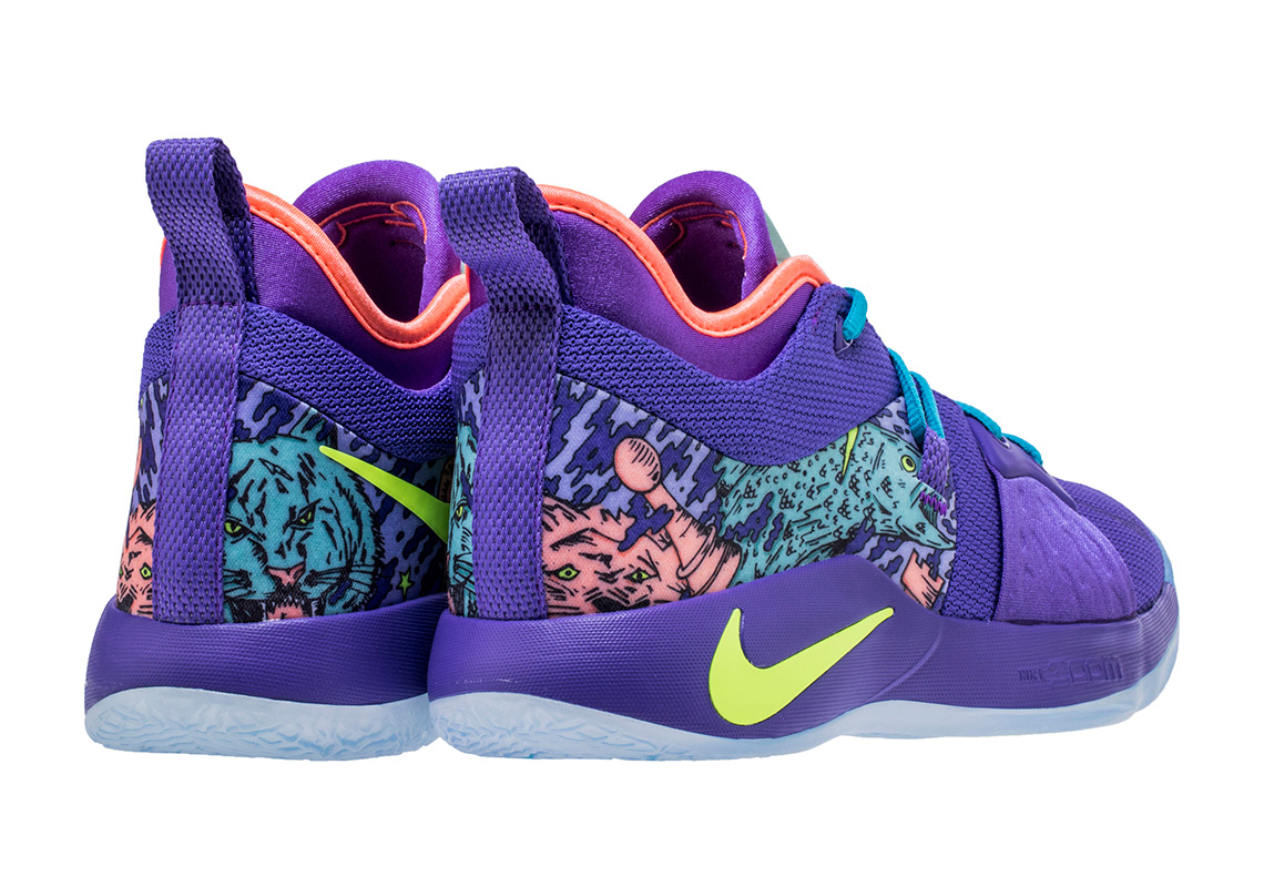 newest c2b7a ee29e Nike PG 2 Mamba Mentality Release Date April 13, 2018. AVAILABLE AT Nike  (Early Access) 110. Color CannonVolt-Purple Venom