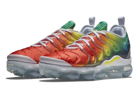 The Nike Vapormax Plus Goes Full Rainbow