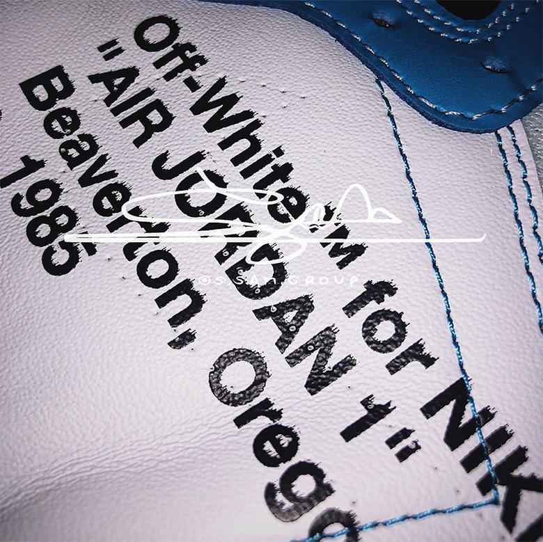 """First Look At The OFF WHITE x Air Jordan 1 """"UNC"""""""