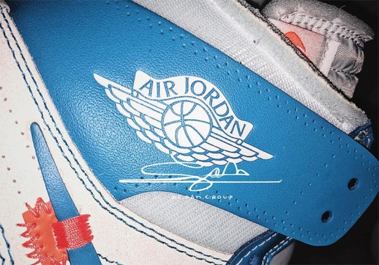 "First Look At The OFF WHITE x Air Jordan 1 ""UNC"""