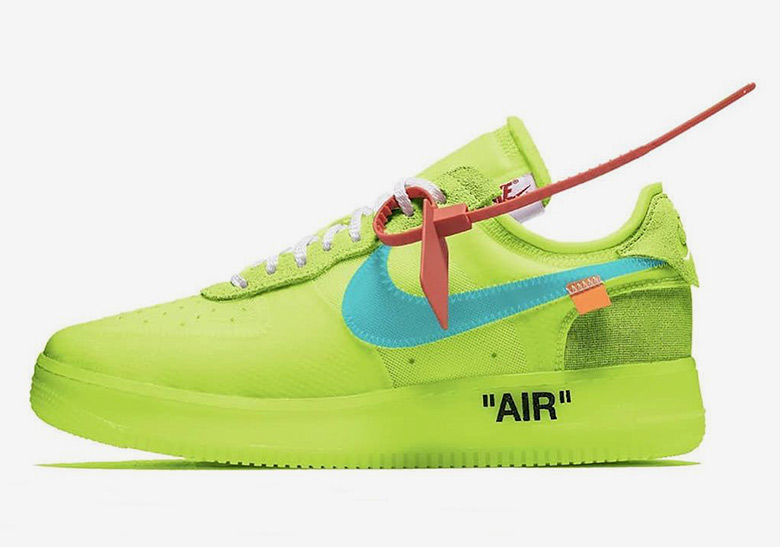 newest 5ff13 1bc1c OFF WHITE x Nike Air Force 1 Volt First Look A04606-700