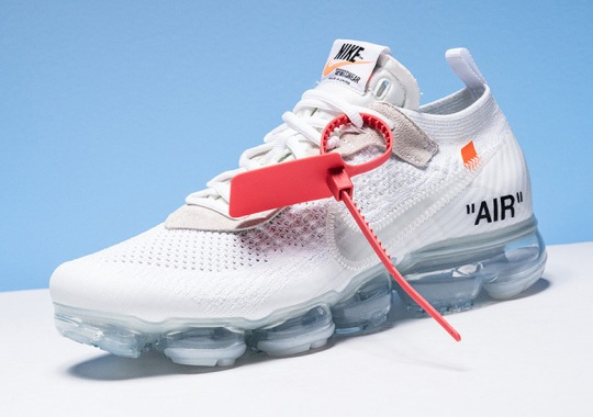 Where To Buy: OFF WHITE x Nike Vapormax – White/Orange/Black