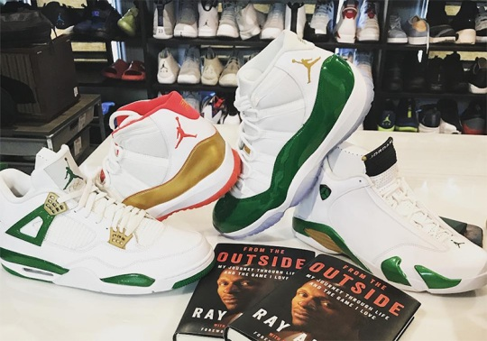 Ray Allen Reveals Boston Celtics Themed Air Jordan Retro PEs