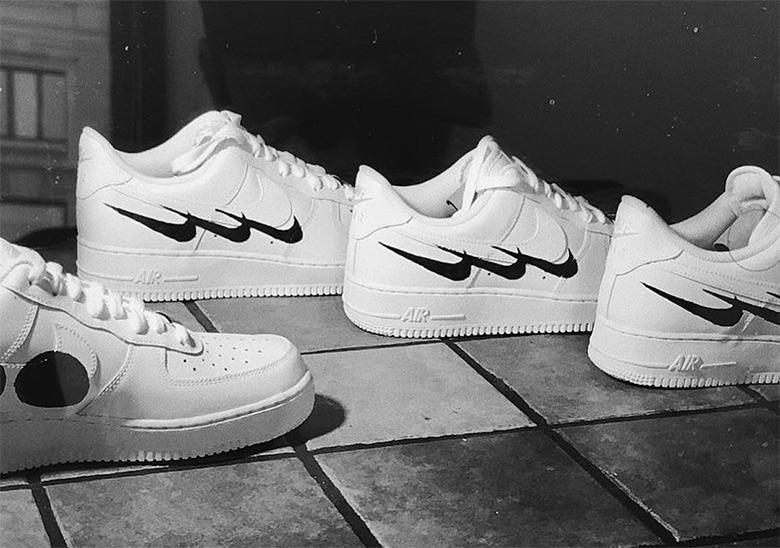48dc782a54b7 Swedish House Mafia Nike Air Force 1 Custom Virgil Abloh ...