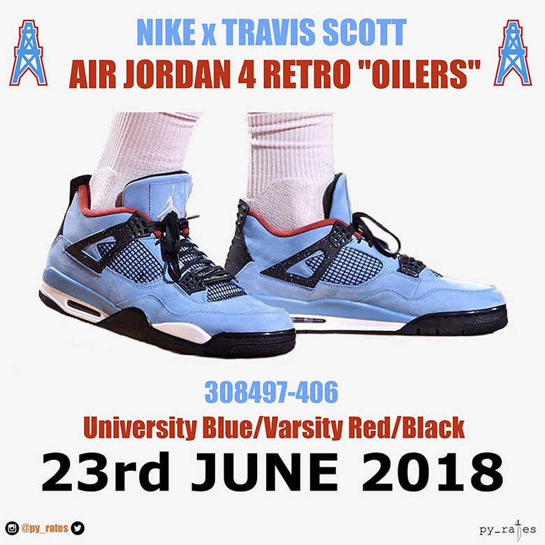 "Travis Scott x Air Jordan 4 ""Cactus Jack"" Release Date  June 9th 93f22f3271"