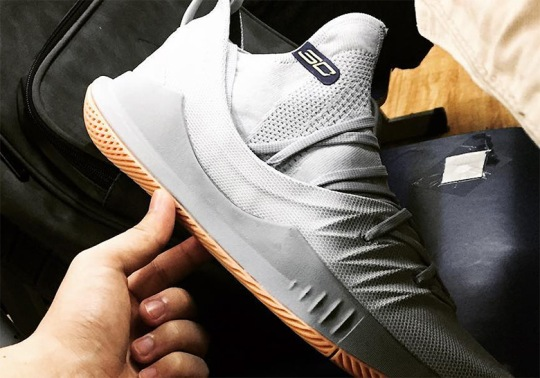 First Look At The UA Curry 5 In Grey And Gum