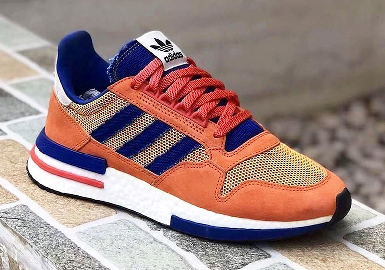 premium selection 1e323 295b2 First Look At The Son Goku x adidas ZX500 RM