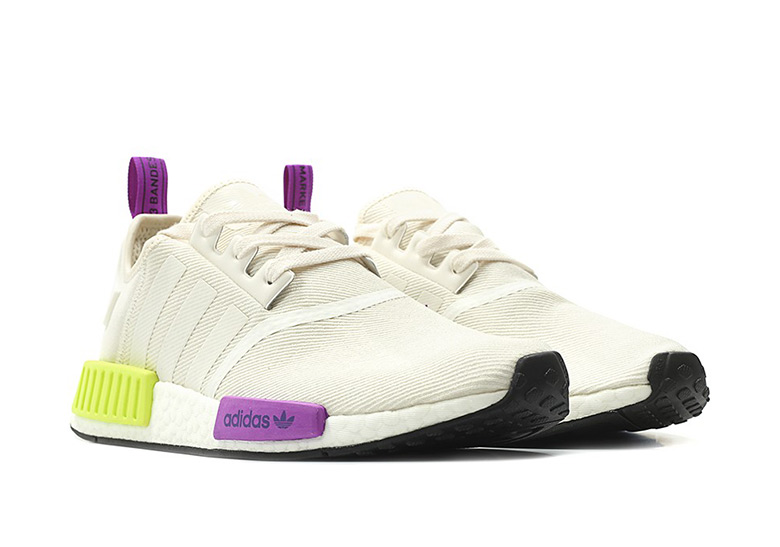 best sneakers 75d67 a9853 adidas NMD R1 Release Date  August 1st, 2018. Color  Off White Purple Neon  Yellow Style Code  D96626
