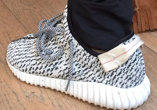 "Kanye West Reveals Original adidas Yeezy Boost 350 ""Turtle Dove"" Sample"