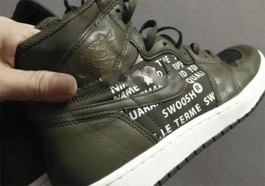 This Air Jordan 1 With Big Logos And Lettering Is Coming In Olive