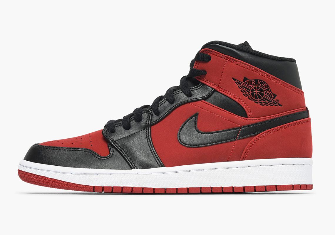 7e628ed76dcabc Air Jordan 1 Mid Gym Red Black 554724-610