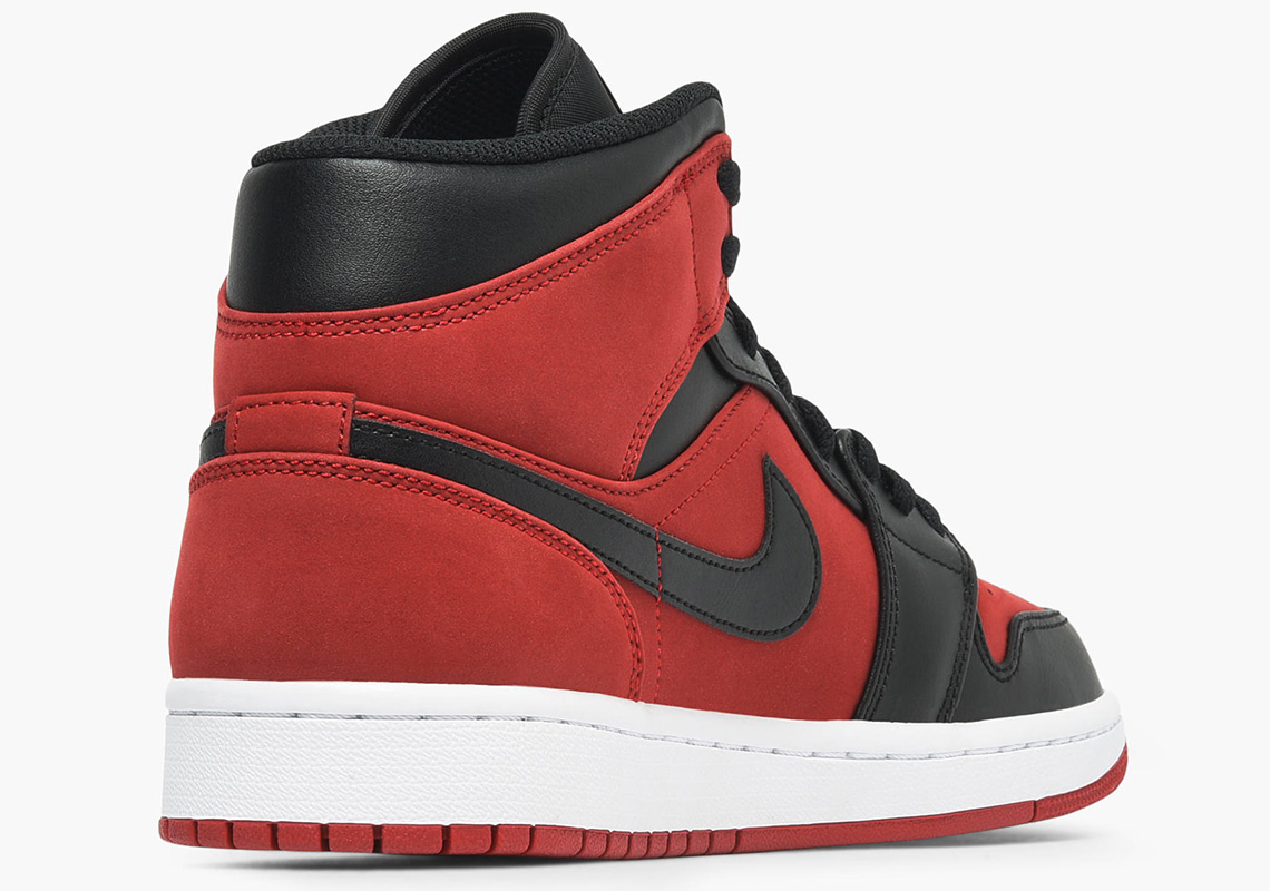 hot sales 7e657 c7cca Air Jordan 1 Mid Gym Red Black 554724-610   SneakerNews.com