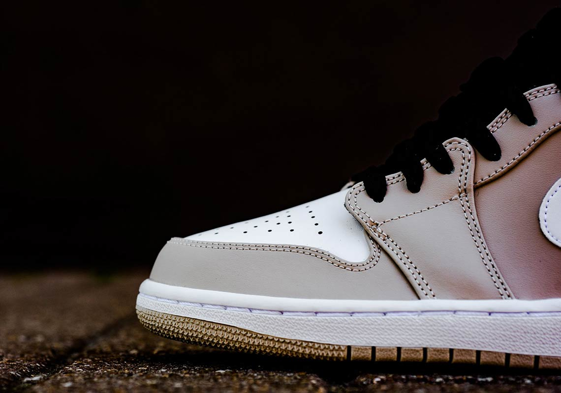 "buy popular 85f26 2ce6f Air Jordan 1 Mid ""Desert Sand"" AVAILABLE AT Nike  110. Color  Desert Sand Black White  Style Code  554724-047. Advertisement. Advertisement"