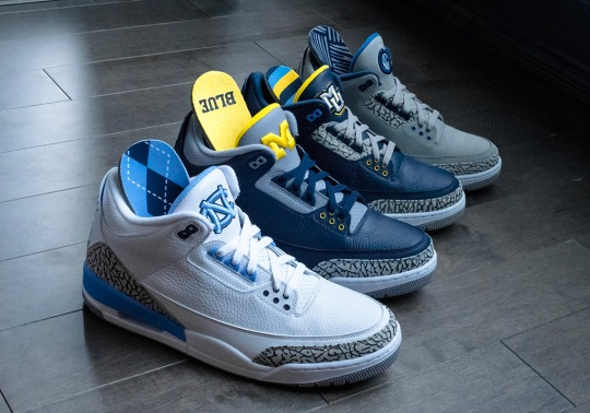 Here's A Look The Full Air Jordan 3 College PE Set