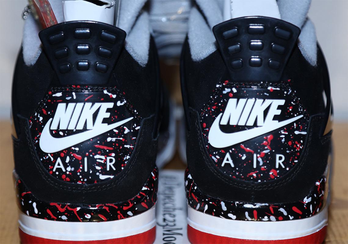 """ac1273432c6c Up Close With Drake s Unreleased Air Jordan 4 """"Splatter"""" PE"""