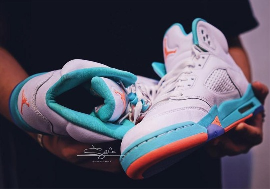 "The Air Jordan 5 Retro Is Coming Soon In A Tropical ""Light Aqua"" Theme"