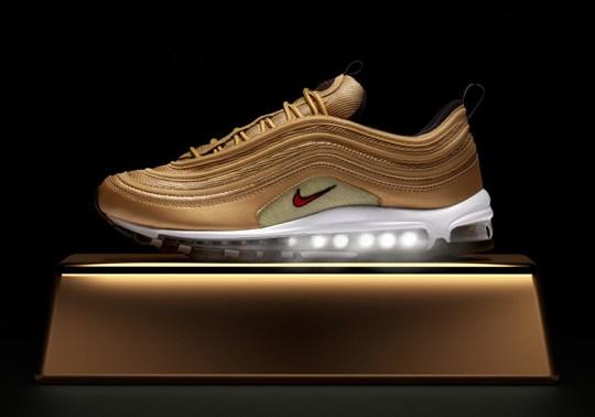 "Where To Buy The Nike Air Max 97 ""Metallic Gold"""