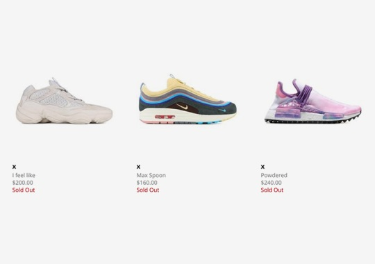 Bodega Drops Surprise Restock Of Sean Wotherspoon Air Max, OFF WHITE x Converse, And More