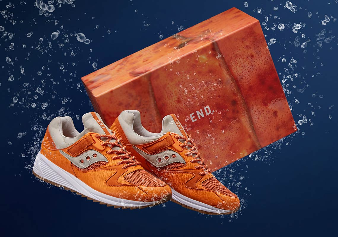f6de5f864ae6 END And Saucony Reel In Lobster-Themed Grid 8500