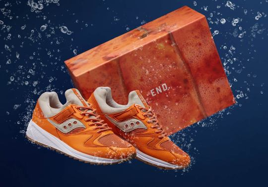 END And Saucony Reel In Lobster-Themed Grid 8500