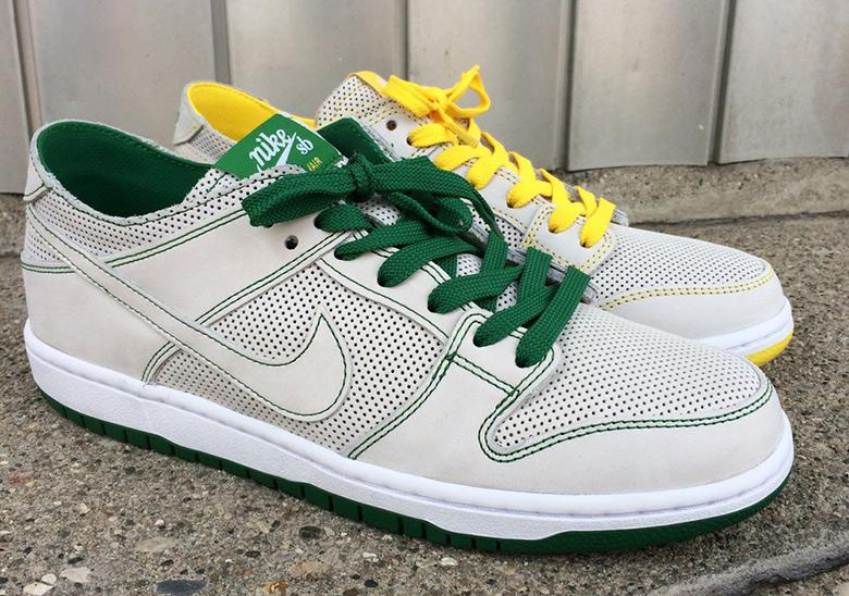 buy popular debdb bc449 Ishod Wair x Nike SB Dunk Low Green/Yellow | SneakerNews.com