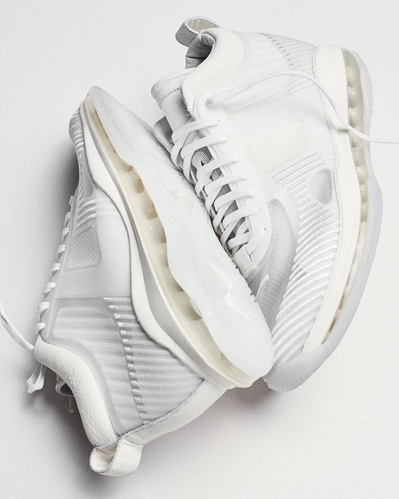afcd8cb26db John Elliott LeBron James White Nike Sneaker