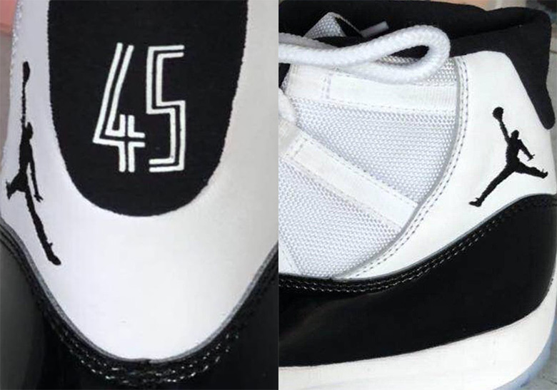 "3ba3c4f870ec Air Jordan 11 ""Concord"" Will Feature 45 On The Heel"