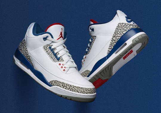 "Air Jordan 3 ""True Blue"" Restocks For First Day Of ""The Week Of IIIs"""
