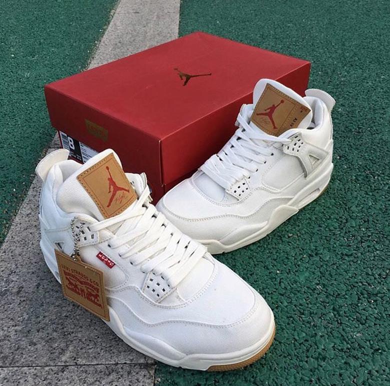 8c0745f160f53f Levi s Jordan 4 White Black Denim Release Date