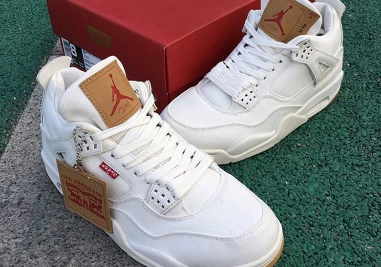 d31a9960be9a Levi s Jordan 4 White Black Denim Release Date