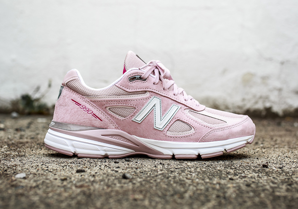 new product 33db1 09ad1 New Balance 990 v4 Susan G Komen Buy Now   SneakerNews.com