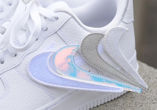 Nike Air Force 1-100 Features Replaceable Swoosh Logos
