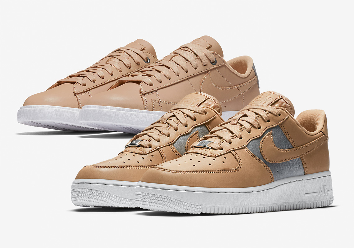 Nike Pairs Tan And Silver On Two Classic Sportswear Models For Women de4f7f0c79