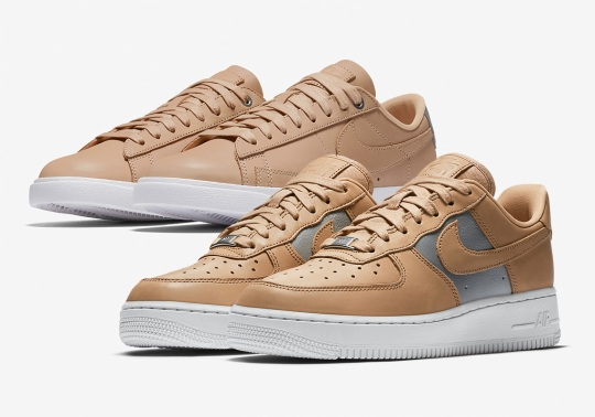 Nike Pairs Tan And Silver On Two Classic Sportswear Models For Women