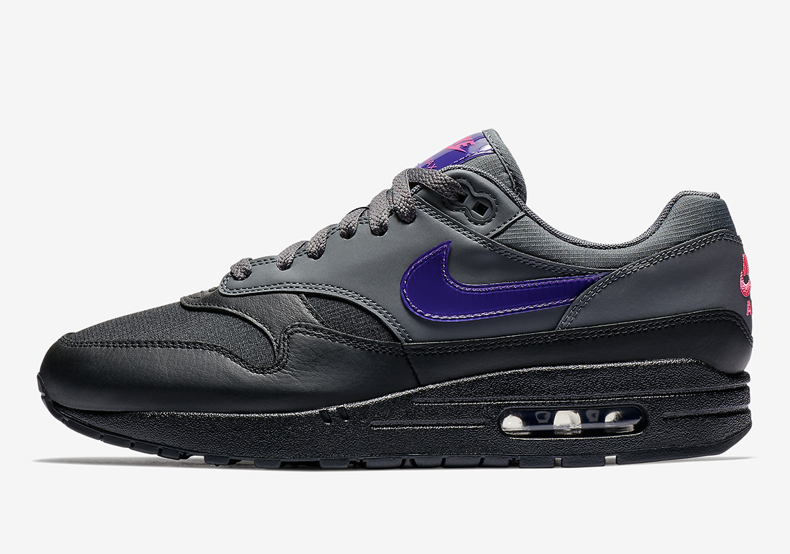 nike air max 1 purple black