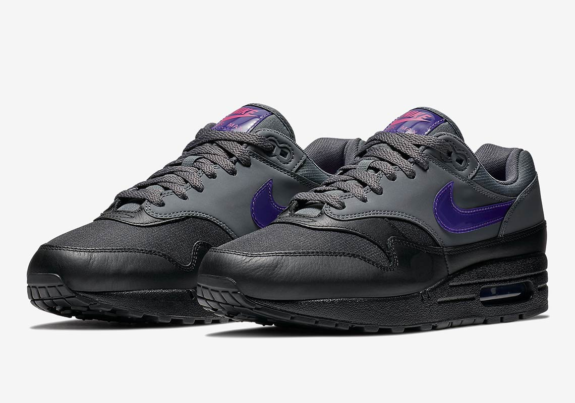 ccdb839a61 Nike Air Max 1 Black Grey Purple Pink AR1249-002 | SneakerNews.com