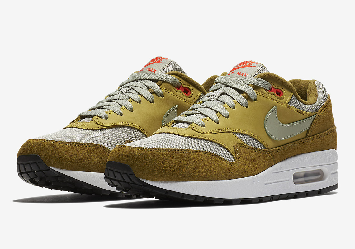b67398ca51 Nike Air Max 1. Release Date: May 10, 2018 $150. Color: Dark Curry/Sport  Blue/Black/True White Style Code: 908366-700