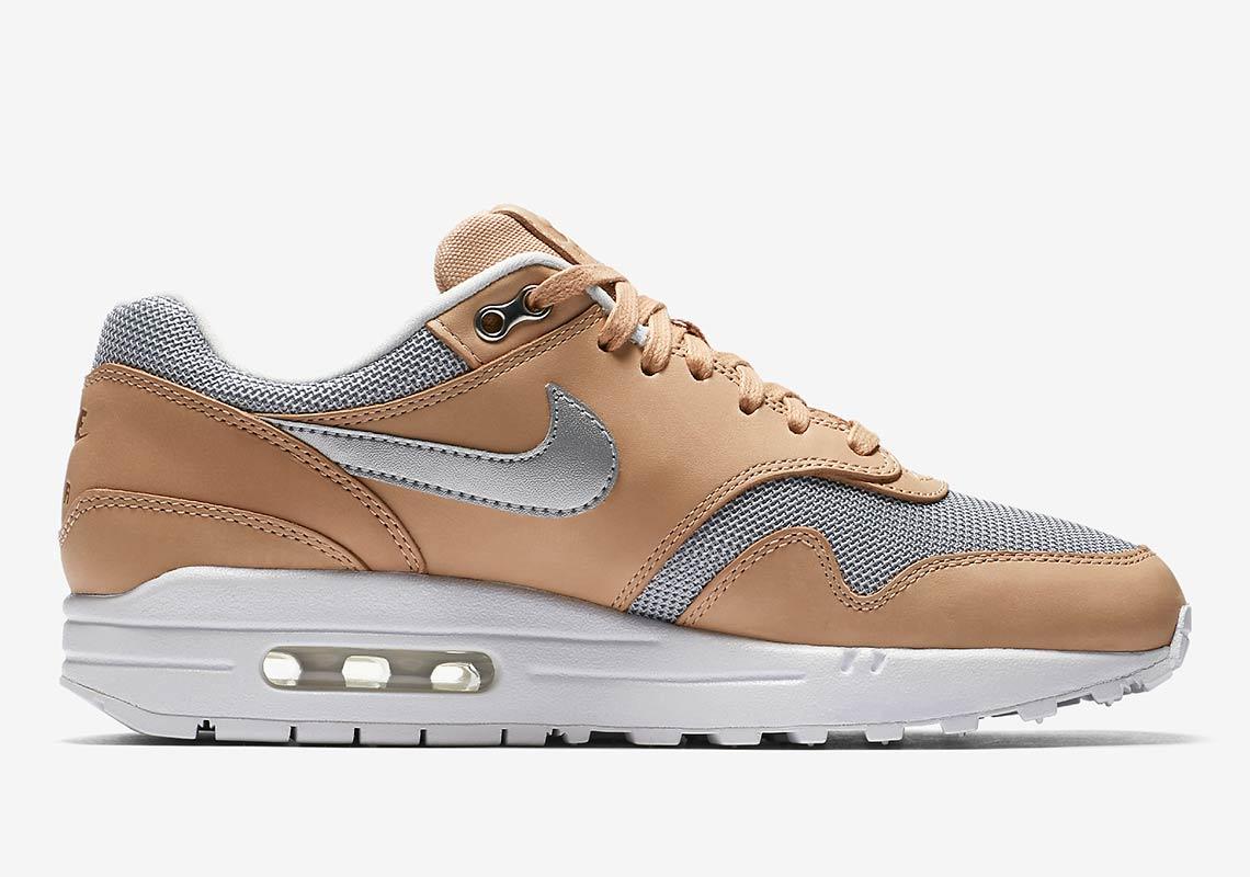 ba7f7f3b96 Nike Air Max 1 Wmns $130. Color: Vachetta Tan/Metallic Silver-White Style  Code: AO0795-200. Advertisement