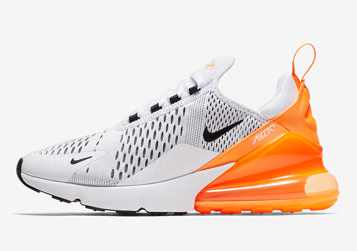 Nike Air Max 270 WhiteOrange Black AH6789 104